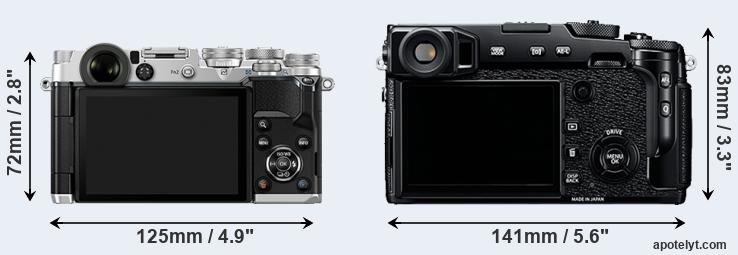 PEN-F and X-Pro2 rear side