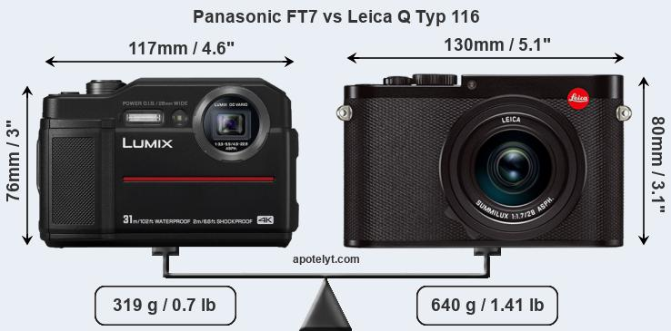 Compare Panasonic FT7 and Leica Q Typ 116