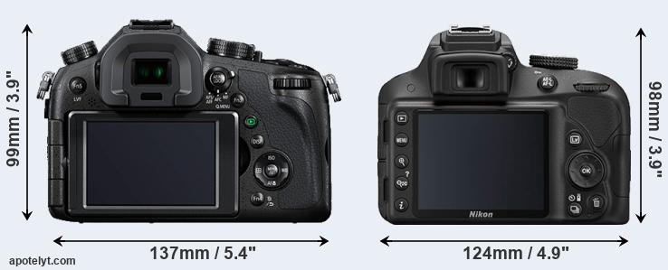 FZ1000 and D3300 rear side