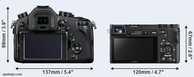 FZ1000 and A6000 rear side