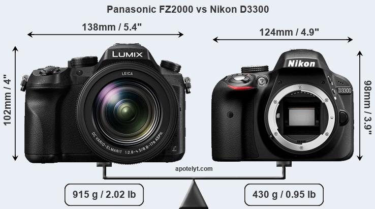 Compare Panasonic FZ2000 vs Nikon D3300
