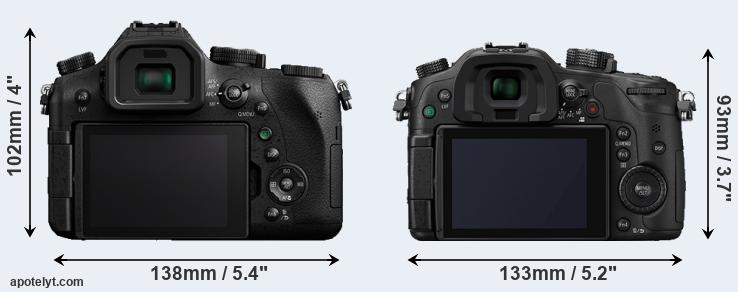FZ2000 and GH4 rear side