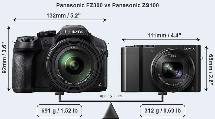 Compare Panasonic FZ300 vs Panasonic ZS100