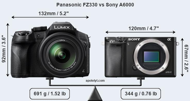 Compare Panasonic FZ330 vs Sony A6000