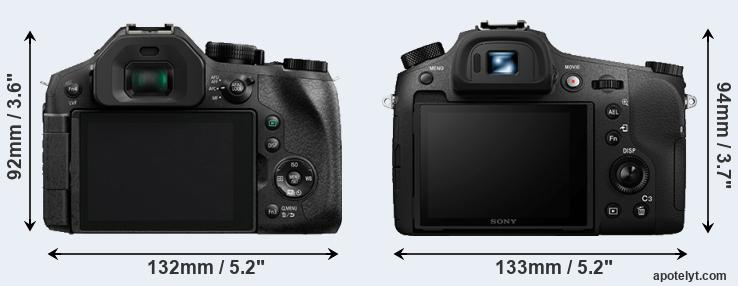 FZ330 and RX10 III rear side