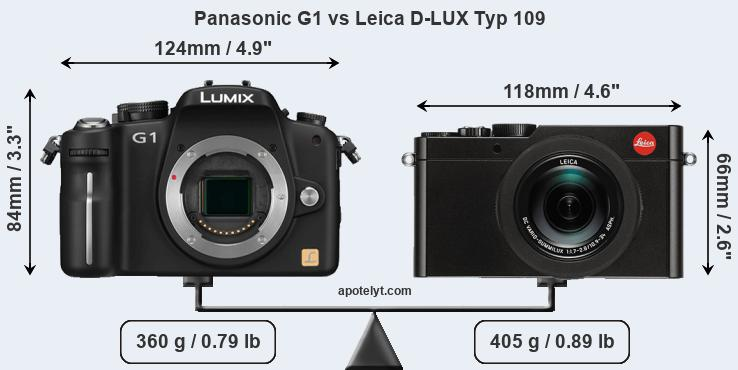 Compare Panasonic G1 and Leica D-LUX Typ 109