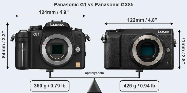 Size Panasonic G1 vs Panasonic GX85