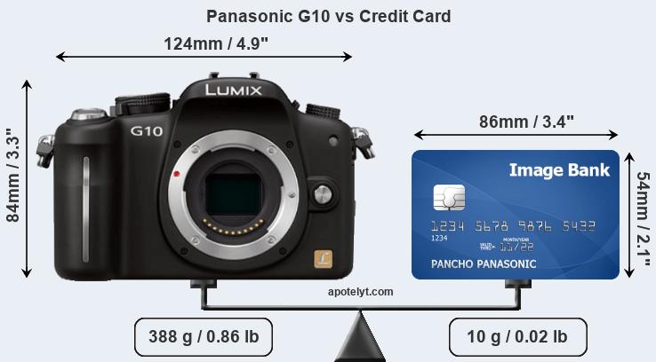 Panasonic G10 vs credit card front