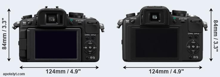 Lumix G2 and Lumix G10 rear side