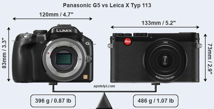 Compare Panasonic G5 vs Leica X Typ 113