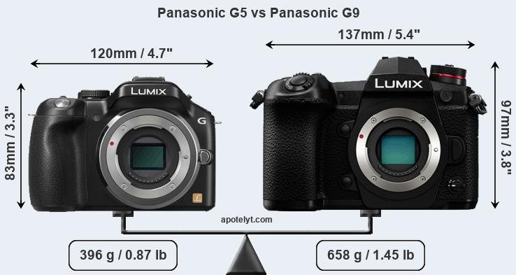Snapsort Panasonic G5 vs Panasonic G9