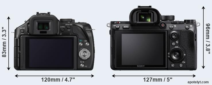 G5 and A7R III rear side