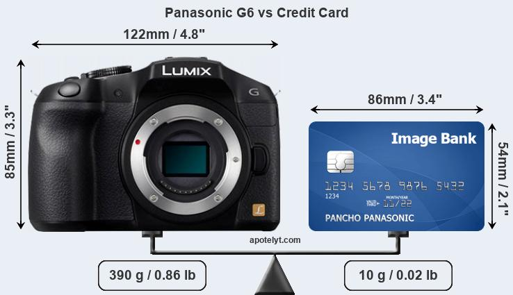 Panasonic G6 vs credit card front