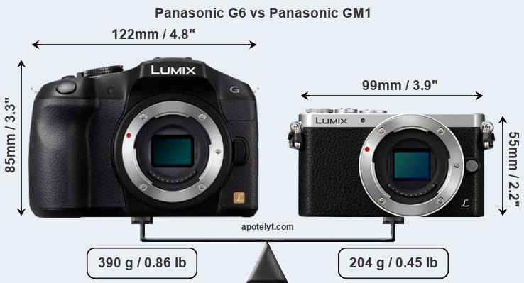 Size Panasonic G6 vs Panasonic GM1