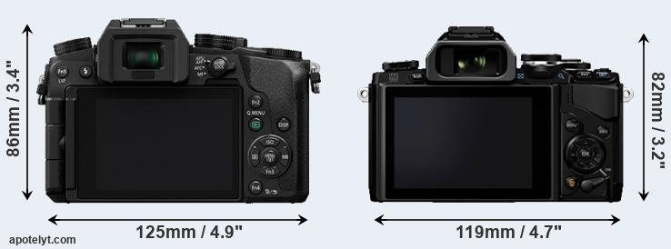 G7 and E-M10 rear side