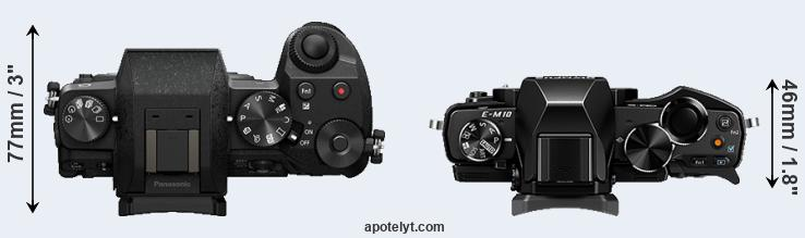 G7 versus E-M10 top view