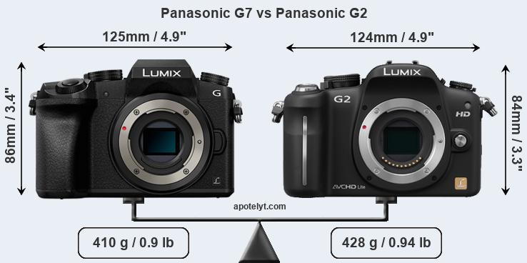 Compare Panasonic G7 vs Panasonic G2