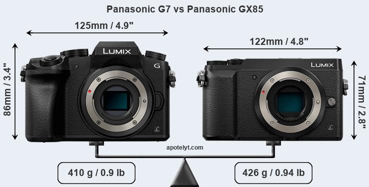 Panasonic G7 vs Panasonic GX85 front