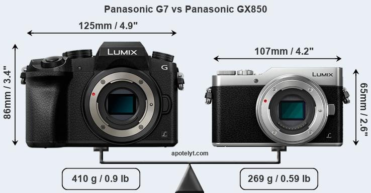 Panasonic G7 vs Panasonic GX850 front