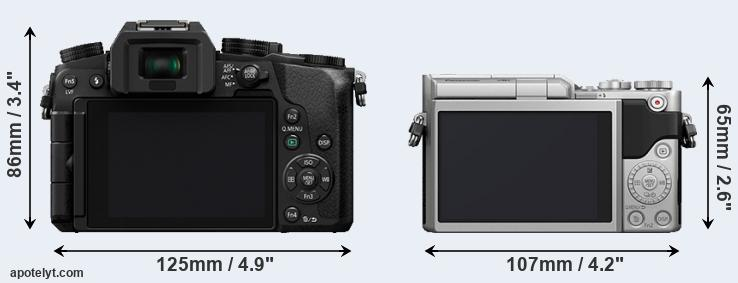 G7 and GX850 rear side