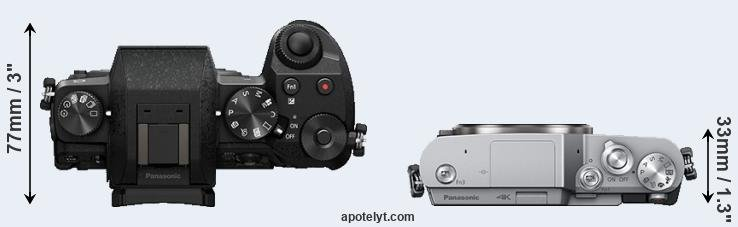 G7 versus GX850 top view
