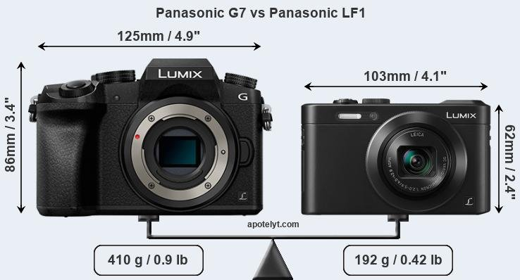 Size Panasonic G7 vs Panasonic LF1