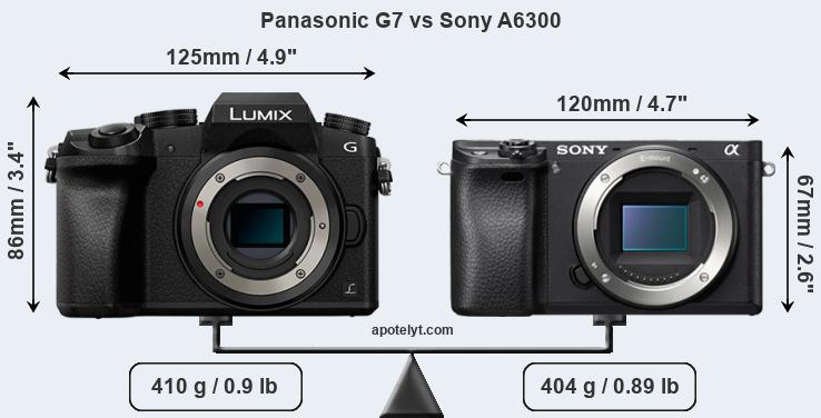 Panasonic G7 vs Sony A6300 front