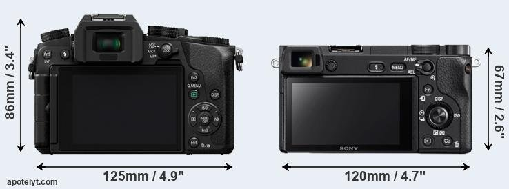 G7 and A6300 rear side