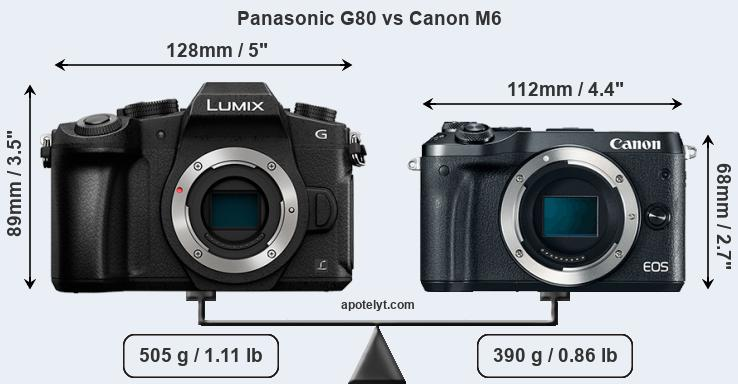 Compare Panasonic G80 vs Canon M6