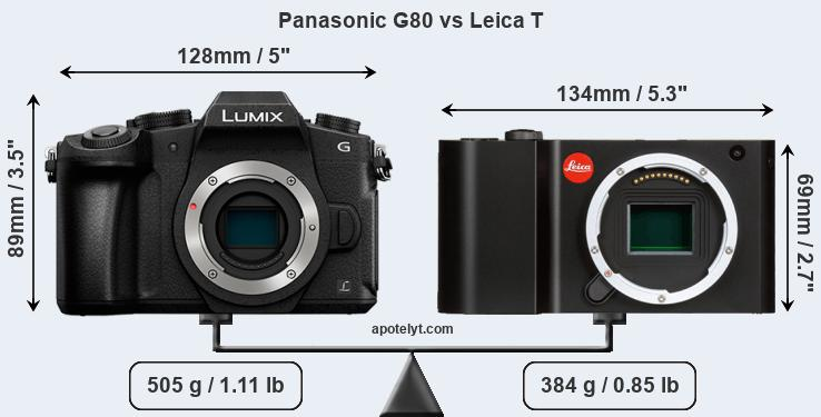 Compare Panasonic G80 vs Leica T