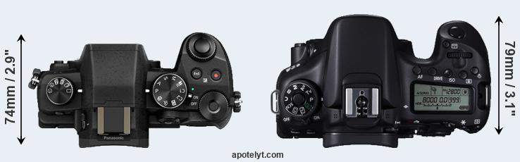 G85 versus 70D top view