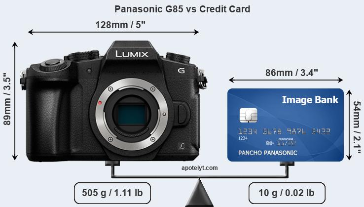 Panasonic G85 vs credit card front