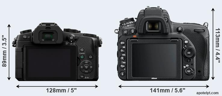 G85 and D750 rear side