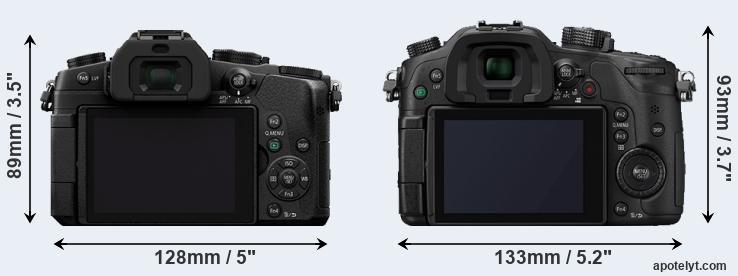 G85 and GH4 rear side