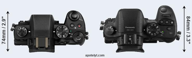 G85 versus GH4 top view