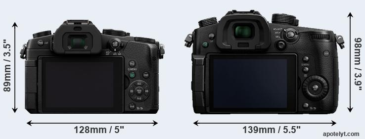 G85 and GH5 rear side