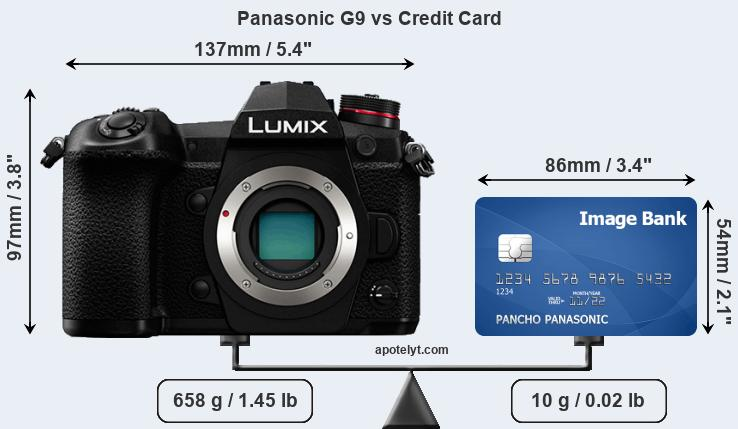 Panasonic G9 vs credit card front