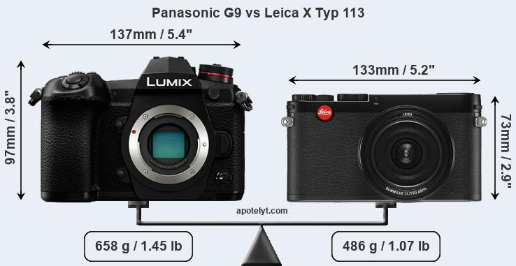 Compare Panasonic G9 and Leica X Typ 113