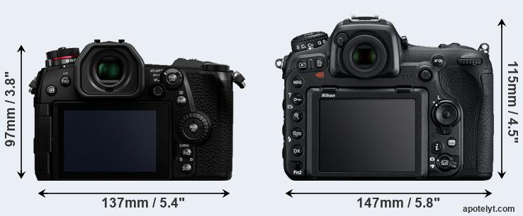 G9 and D500 rear side