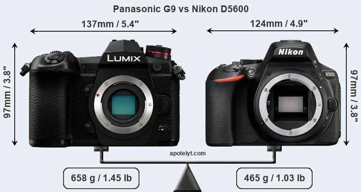 Compare Panasonic G9 vs Nikon D5600