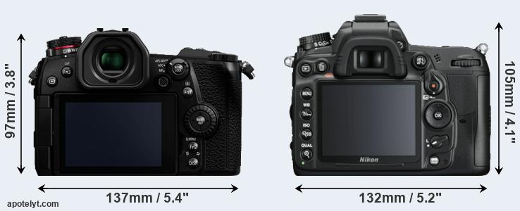 G9 and D7000 rear side