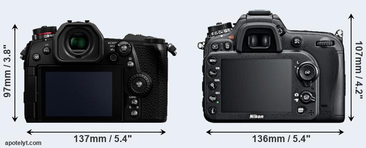 G9 and D7100 rear side
