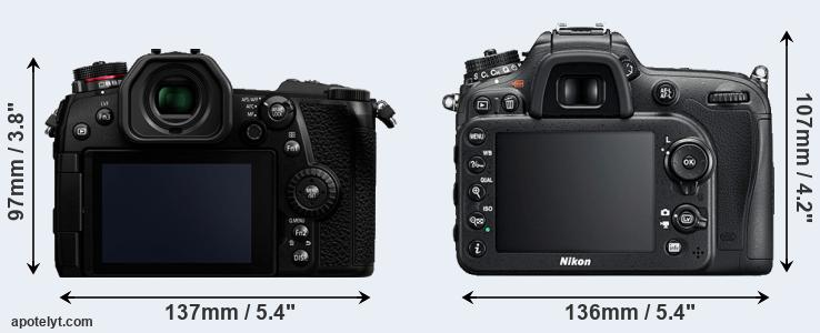 G9 and D7200 rear side
