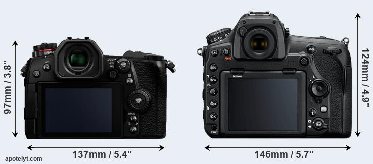 G9 and D850 rear side