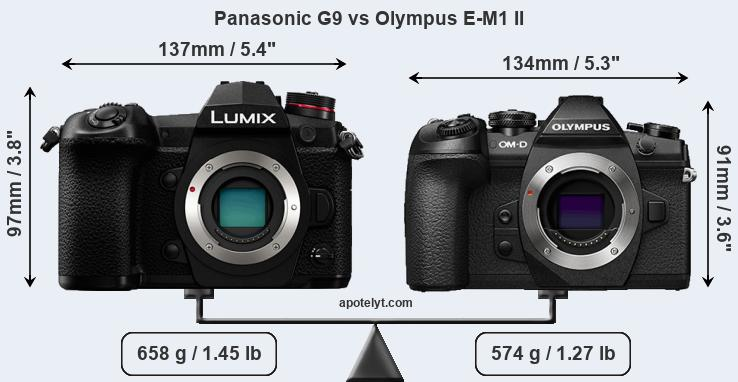 Compare Panasonic G9 and Olympus E-M1 II