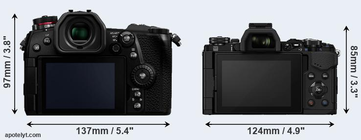G9 and E-M5 II rear side