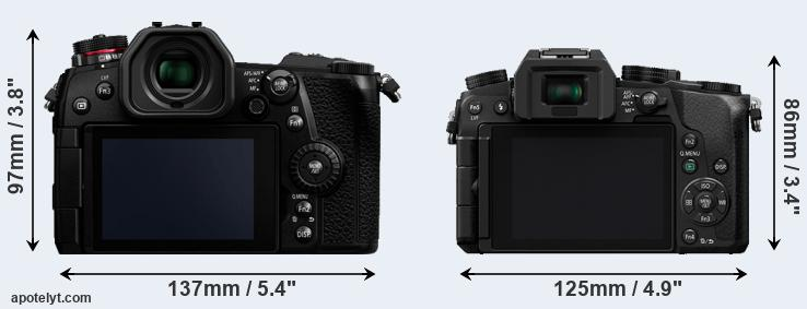 G9 and Lumix G7 rear side