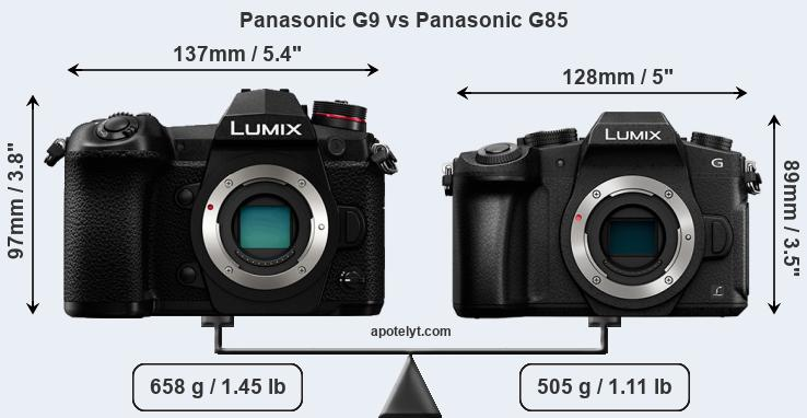 Snapsort Panasonic G9 vs Panasonic G85