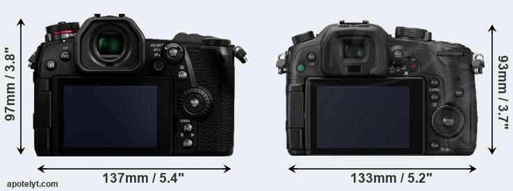 G9 and GH3 rear side