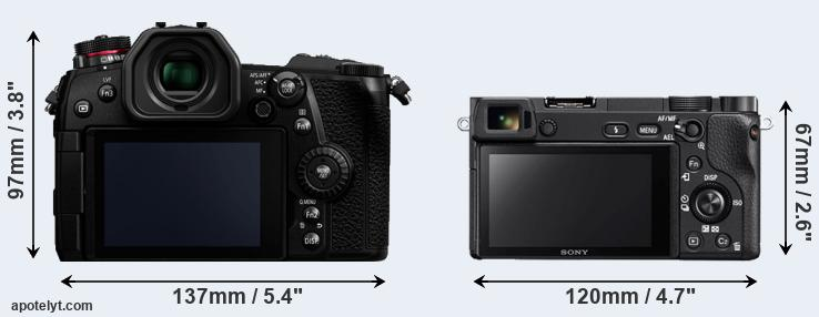 G9 and A6300 rear side